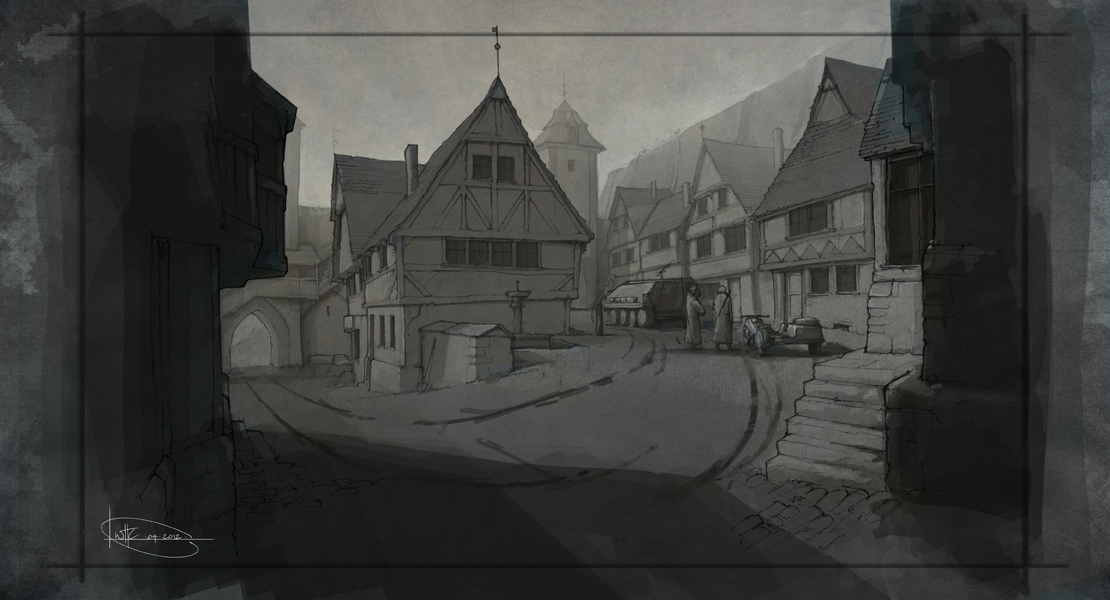 Will Houghton-Connell - Concept Art German Town 1