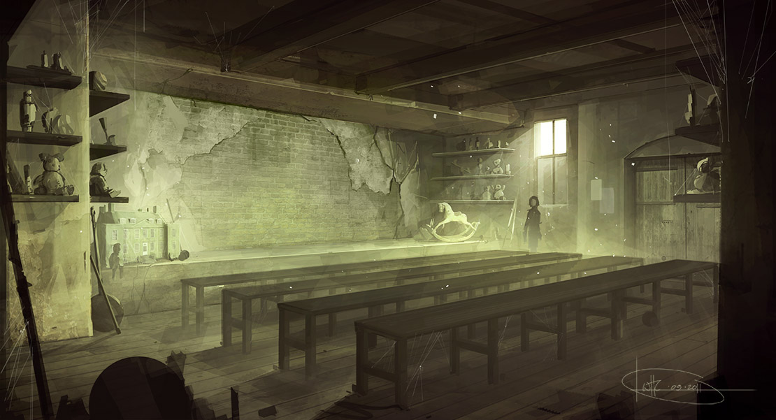 Will Houghton-Connell - Concept Art Bedern Main Room 1