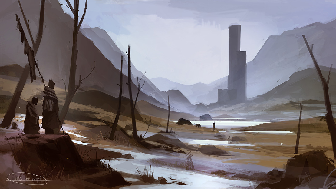 Will Houghton-Connell - Concept Art - Fantasy Landscape 1
